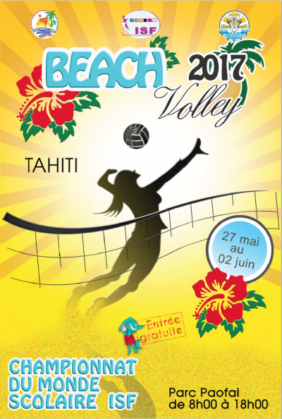 Championnats du monde scolaire de beach volley Tahiti 2017