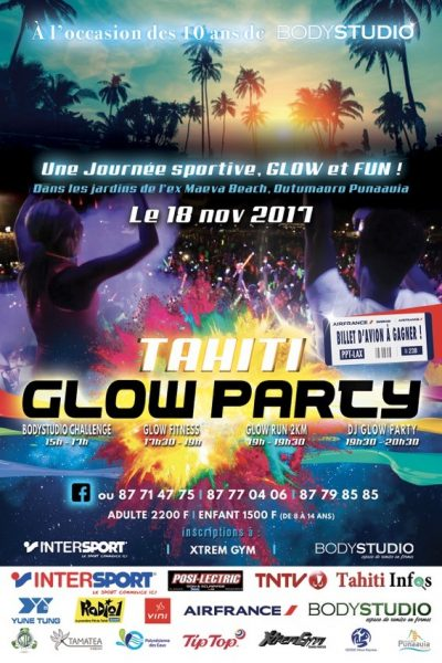 Affiche Tahiti Glove Party