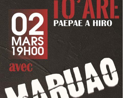 Maruao sur le Paepae A Hiro