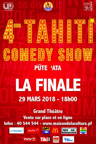 Affiche Tahiti comedy show 2018-rouge-1bis