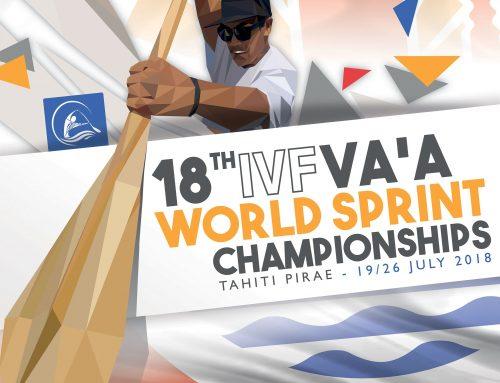 Coup d'envoi des Championnats du monde de va'a 2018