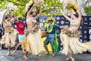 Gabriel Medina (BRA) Winner and Owen Wright (AUS) Runner Up of the Tahiti Pro 2018 ,Teahupoo, French Polynesia