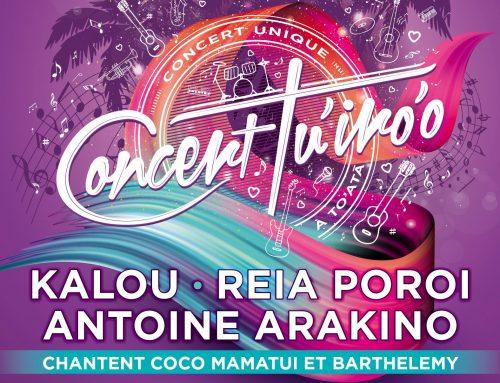 2ème édition du Concert Tu'iro'o